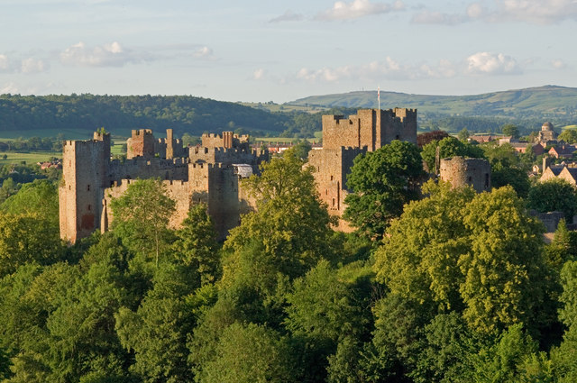 Ludlow Castle from Whitcliffe 2011