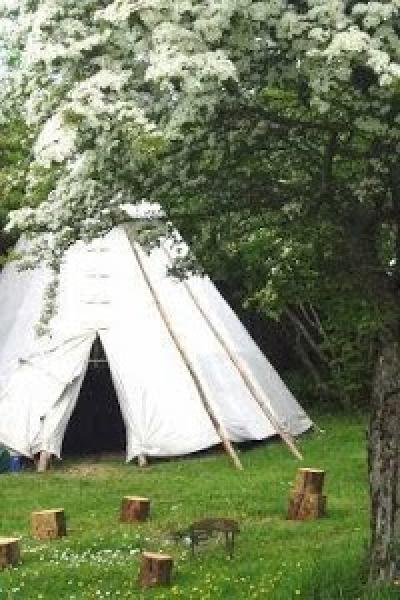 tipi at Cornish Tipi Holidays