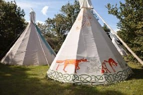 tipi stay in Cornwall