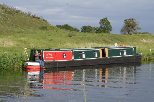 Moored at Fotheringhay near the castle mound
