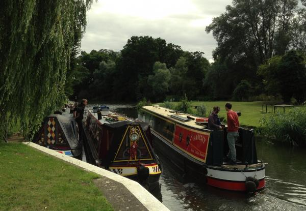 At a River Nene Lock