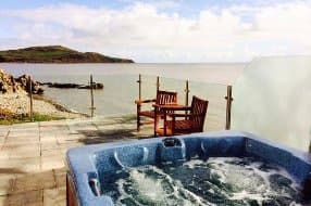 Rascarrel Bay Lodge 1 sea view hot tub