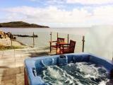 Rascarrel Bay Lodge 1 sea view hot tub