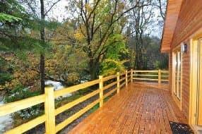 the cabin balcony