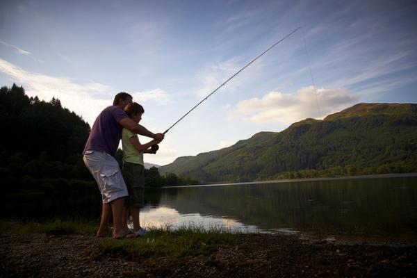 fishing on the loch
