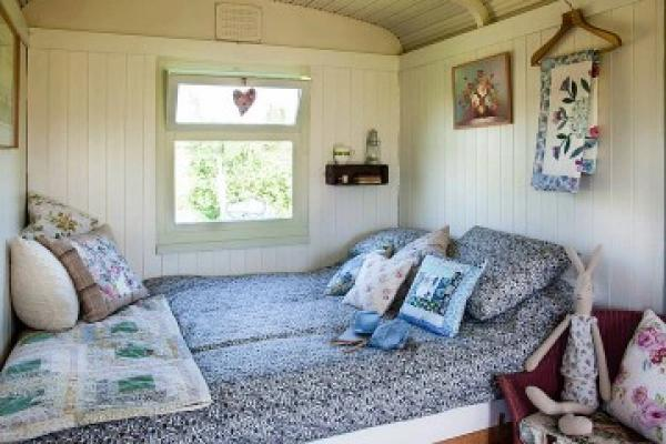 great double bed