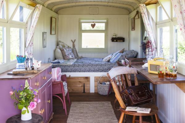 The Strawberry Shepards Hut interior