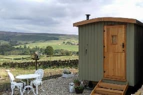 shepherds hut with views