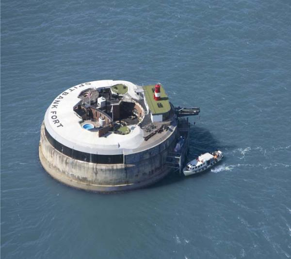 Spitbank Fort from the air