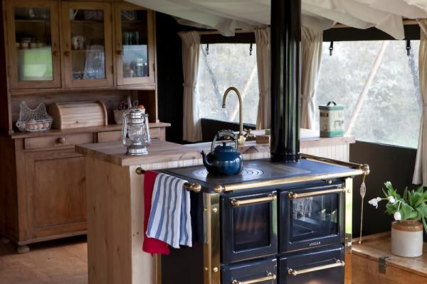 kitchen in the luxury lodges