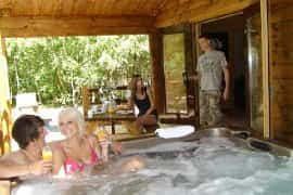 enjoy a cabin holiday with hot tub