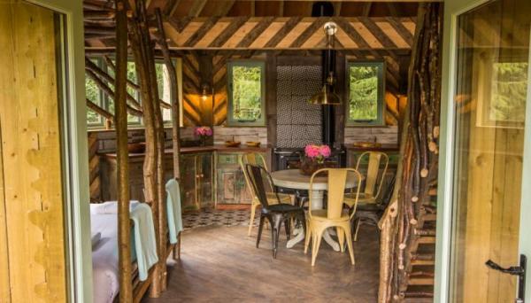 interior of Quercus treehouse