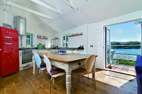 Open plan living and dining area with lovely views