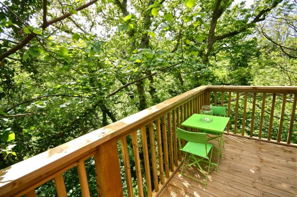 balcony in the trees