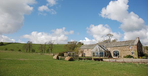 exterior of the farmhouse