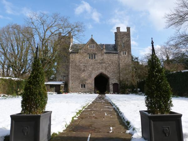 The Gatehouse in the snow