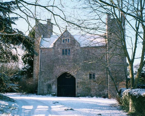 exterior shot in the snow