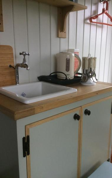 sink area with kettle