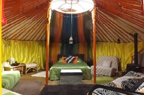 interior of yurt