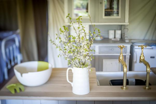 luxury glamping touches