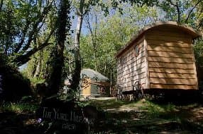 yurt with bathroom in shepherd hut