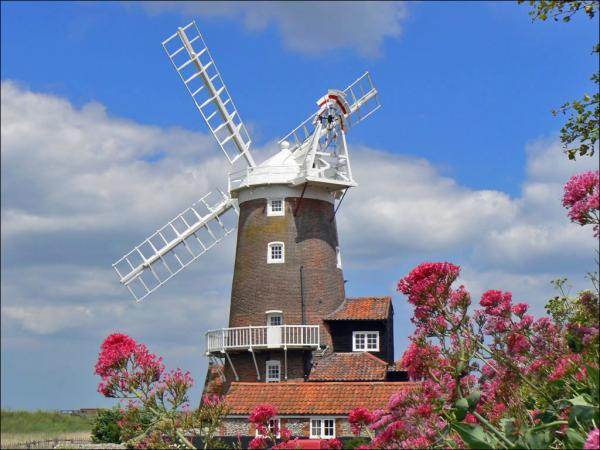 view of norfolk windmill