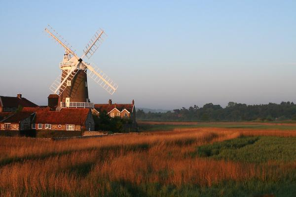 the windmill looks out over fields
