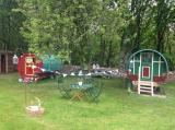 traditional gypsy caravan for glamping