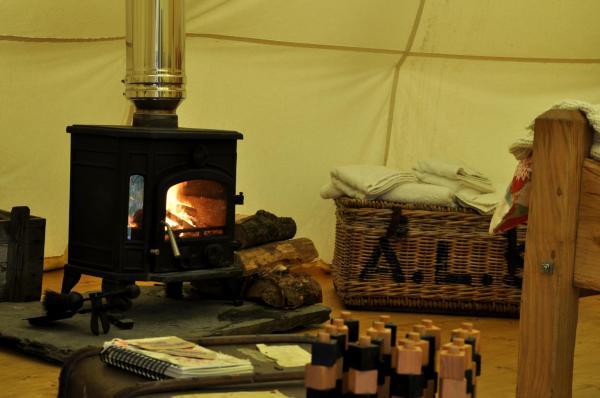 enjoy the cosy wood burner