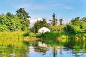 poppy yurt lake view