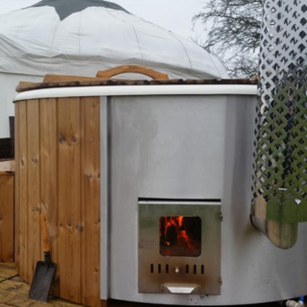 woodfired hot tubs for each yurt