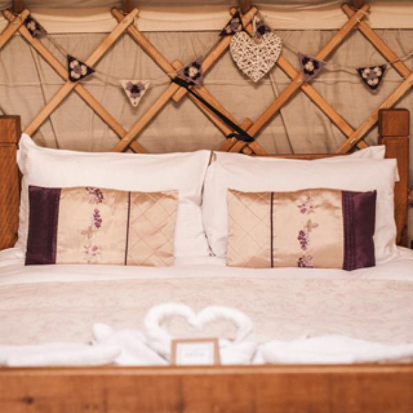 Blackberry Yurt sleeps 2 to 5 guests