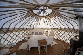 gorgous interior of yurt
