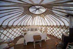 gorgous interior of yurt