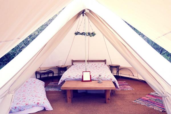 comfortable tent stays
