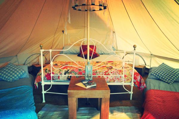 interior of luxury bell tent