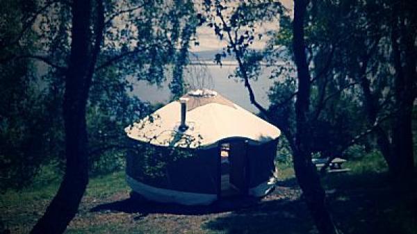 Cherry yurt has excellent views