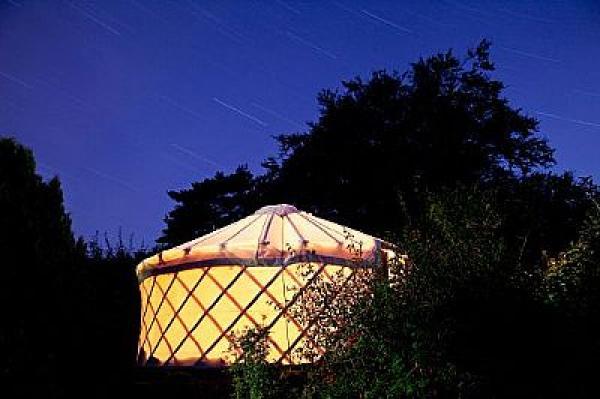 hand crafted yurt