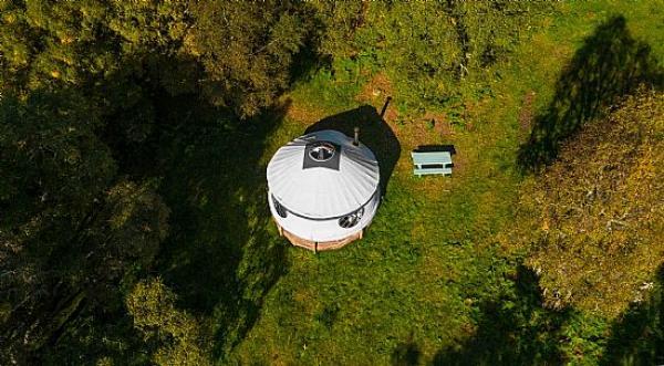 overview of Aspen Yurt