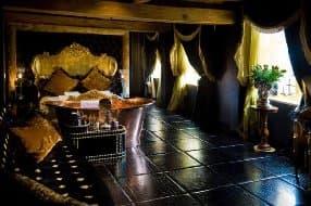 opulent suite at hotel