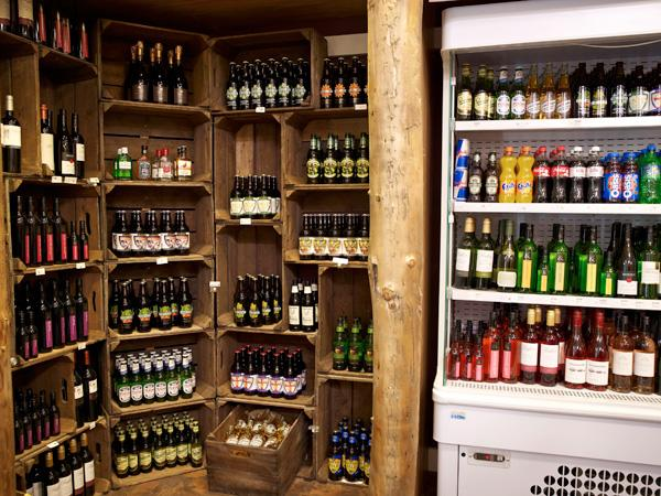 on site shop selling local beer and wine
