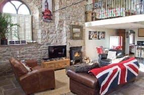 British themed living area