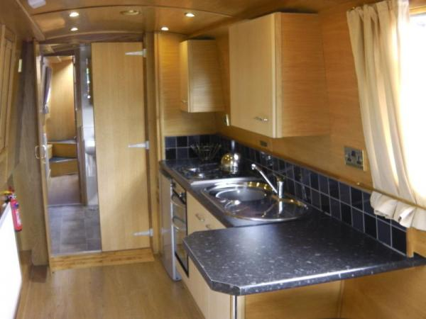 fully equipped kitchen galley