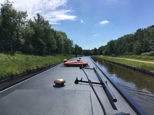 on the canal