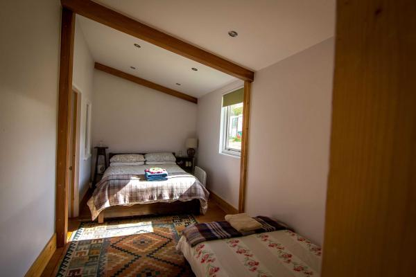 bedroom in the Hop Shack