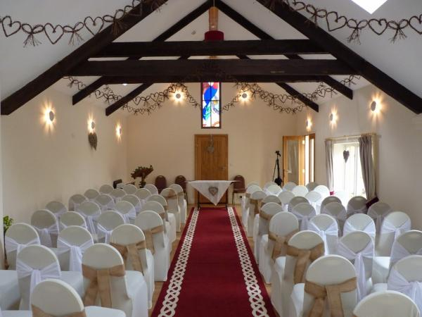 The Old Dairy ready for ceremony