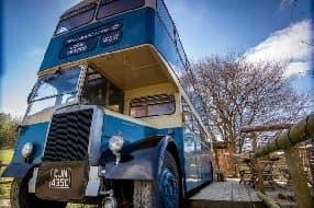 stay in a double decker bus