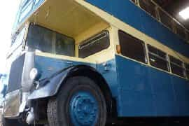 the converted Double Decker bus
