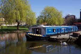 cruising narrowboat