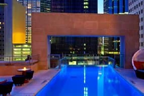Outdoor pool with great city views